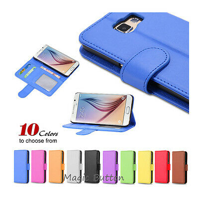 Premium PU Leather Flip Wallet Case Card Slot Cover For Samsung Galaxy S5