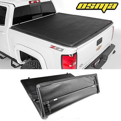07-13 Silverado/Sierra 1500 5.8ft Short Bed Soft Tri-Fold Black Tonneau Cover