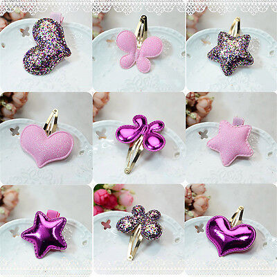 1 Pc Kids Girls Baby Butterfly Hearts Stars BB Hair Clip Hair Accessories