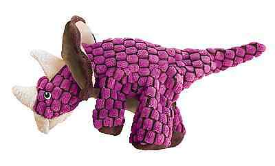KONG DYNOS TRICERATOPS PINK CAT TOY soft plush catnip crinkle sound toy