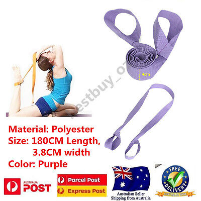 Adjustable Straps Belt Yoga Pilates Home Gym Fitness Exercise Stretch