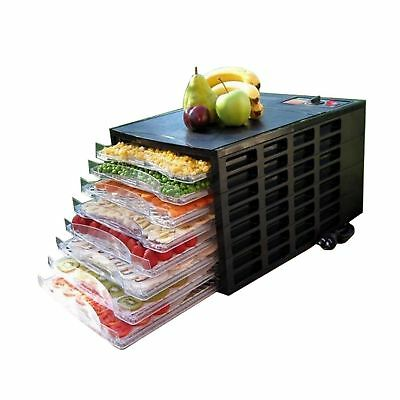 HOMCOM 8 Layer Food Dehydrator Tray Fruit Electric Jerky Dryer Blower Maker