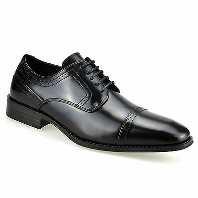 Mens Leather Italian Formal Office Smart Casual Lace Up Oxford Brogue Shoes Size