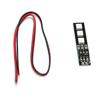RGB 5050 LED Light Board 12V 3S 4S 7 Colors Switch for RC 250 QAV250 FPV Drone