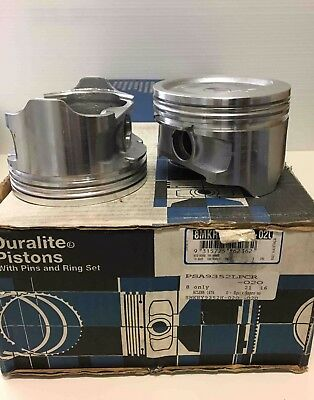 ACL Race piston & rings 8MKRY9352H-020 Chev 350 central bowl with valve relief