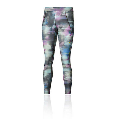 "Asics 26"" Graphic Womens Running Training Gym Long Tights Bottoms Pants"