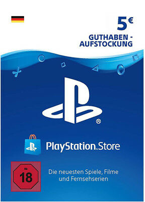DE €5 EUR PLAYSTATION NETWORK 5 Euro Prepaid Card Karte PSN PS3 PS4 PSP Key