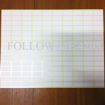 2x150WHITE STICKY LABELS QUALITY,PRICE STICKERS,BLANK,MULTIPURPOSE,SELF ADHESIVE