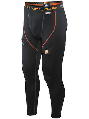 Shock Doctor Boys Youth Core Compression Hockey Pant w/ BioFlex Cup, Black Large