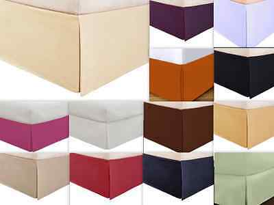 Empire Tailored Bed Skirt Solid Dust Ruffle Queen King Full Twin Size 13 Colors
