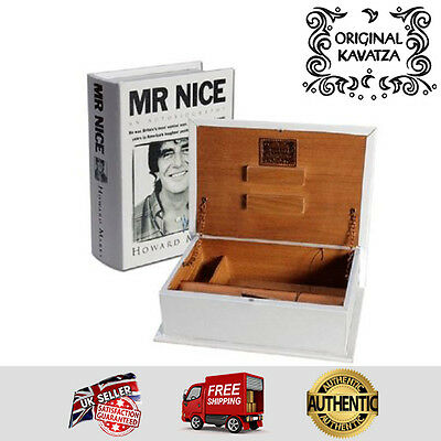Original Kavatza Deluxe Wooden Portable Rolling Box Book - Mr Nice - Large