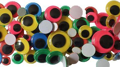 125 Wiggle Wiggly Googly Eyes Self Adhesive Sticky Assorted Sizes