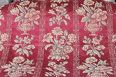 Stunning Vintage Antique French Lyon Silk Home Decor Fabric Textile c1920