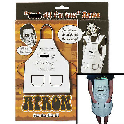 "Novelty ""F off I'm busy"" Apron funny"