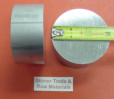 """2 Pieces 3"""" ALUMINUM 6061 ROUND ROD 1.5"""" long T6511 Solid 3.00"""" Lathe Bar Stock"""