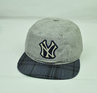 2fa0e3fab2c MLB American Needle New York Yankees Mens Hat Cap Grey Flat Bill Sun Buckle