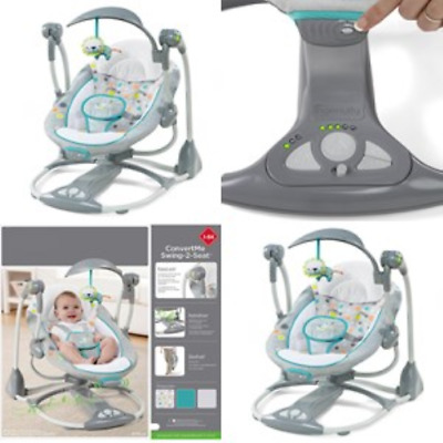 Ingenuity Baby Swing-2-Seat Infant Cradle Rocker Chair Portable Toddler NEW