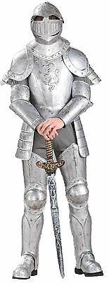 Halloween LifeSize Medieval KNIGHT IN SHINING ARMOUR ADULT MEN Costume New
