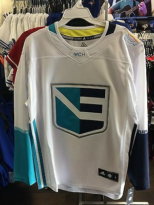 2016 World Cup of Hockey Team Europe Adidas Jersey Replica Size Small White