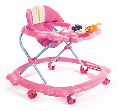 Baby Walker First Steps Activity Bouncer Musical And Toy New Pre Push Along Pink