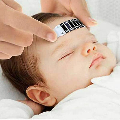 Reusable forehead fever scan thermometer strip for babies and adults
