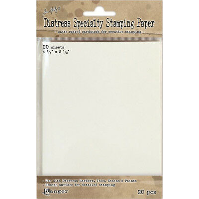 "Tim Holtz Distress Specialty Stamping Paper 20/Pkg 4.25""X5.5"" TDA42099"