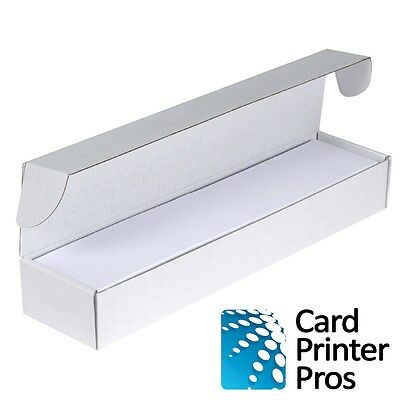 500 PVC Cards Blank White - CR80 .30 Mil, Credit Card size, ID Printer