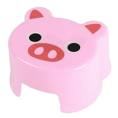 Cartoon Animal Children Antiskid Stool Bathroom Stool Feet Stool ,Pink Piggy BT