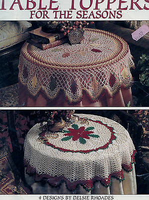 Crochet Pattern Table Toppers for the Seasons 4 Designs by Delisie Rhoades