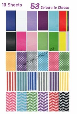10 Sheets Coloured Tissue Paper Party Weding Birthday Gift Wrapping Wrap Package
