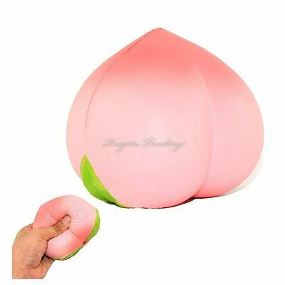 New Colossal 10CM Squishy Pink/White Peach Slow Rising Cream Scented