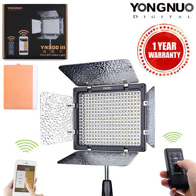 Yongnuo YN-300 III LED Studio Video Light 5500K with Control for Canon Nikon AU