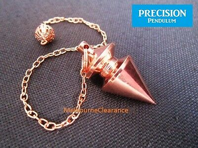 Bronze Solid Metal Precision Pendulum and Chain Dowsing Divination Energy Mystic