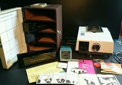 1960's Slide Projector Hanimex Slidematic & Hanomatic Slide Library & Viewer GWO