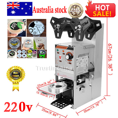 Electric Sealing Machine Cup Sealer Boba Bubble Tea Coffee 300-500 Cups/Hour AUS