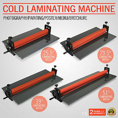 "Cold Laminator Laminating Machine 39"" 4 Roller Desktop Terrific Value High Grade"