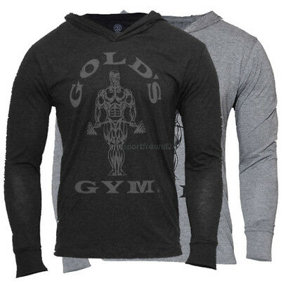 Gold´s Gym Muscle Joe Longsleeve Hoodie Fitnessbekleidung Bobybuilding Golds Gym