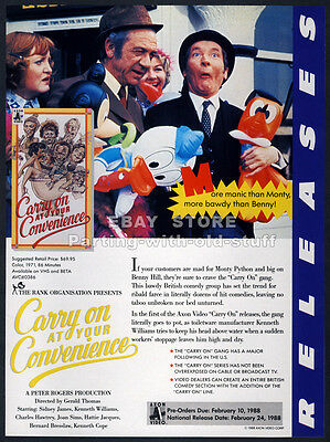 CARRY ON at Your Convenience (1971)__Orig. 1988 Trade AD movie promo__SID JAMES