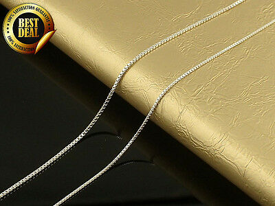 100% - 925 Sterling Silver - Venetians Chain Necklace 16-30 inch - 0.6-0.9 mm