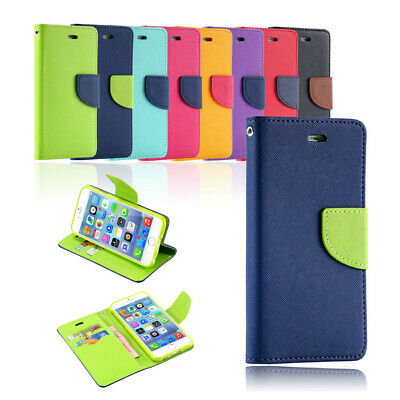 For iPhone 8 7 Plus 6 6S Plus Case Leather Wallet Flip Card Soft Gel Cover