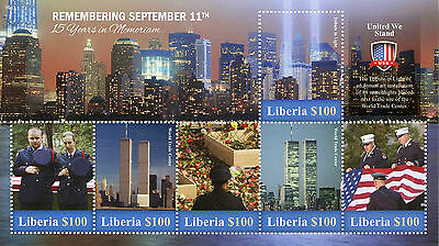 Liberia 2016 MNH September 11th 15th Memorial 6v MS New York Architecture Stamps