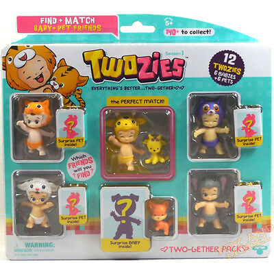Twozies Two-Gether Pack (6 Babies & 6 Pets) inc Jangles & Bangles Perfect Match
