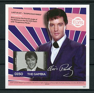 Gambia 2016 MNH Elvis Presley His Life in Stamps Suspicious Minds 1v S/S I