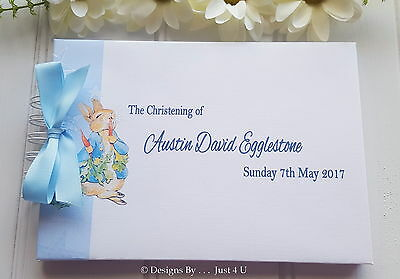 Personalised Baby Christening* Naming Day* Baptism  Guest Book Scrapbook Album