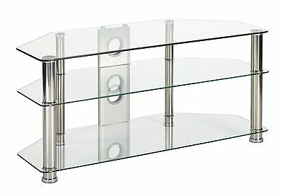 Clear Glass tv stand corner unit for 32 37 42 46 50 inch LCD LED flat screen tv