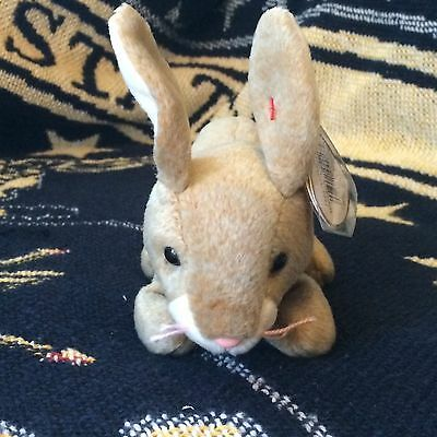 TY Beanie Baby Nibbly the Rabbit in Mint Condition