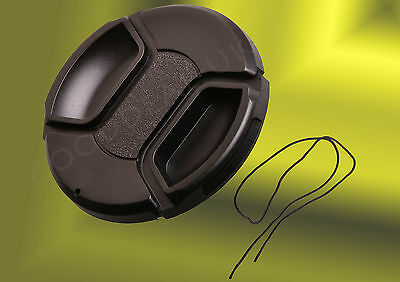 52mm Camera Front Lens Snap-on Pinch Cap Cover for Nikon Olympus Canon Fujufilm