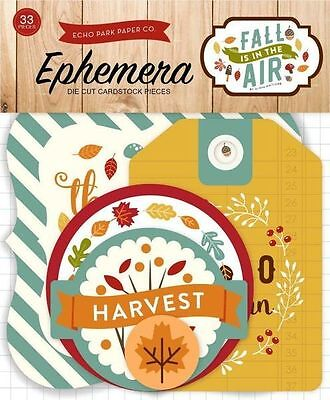 """Echo Park """"fall Is In The Air"""" Ephemera Die Cuts 33 Pieces Scrapjack's Place"""