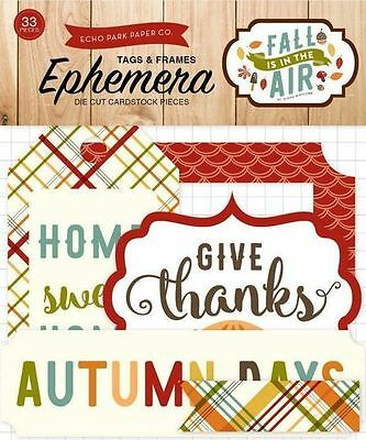 """Echo Park """"fall Is In The Air"""" Ephemera Tags & Frames Autumn Scrapjack's Place"""