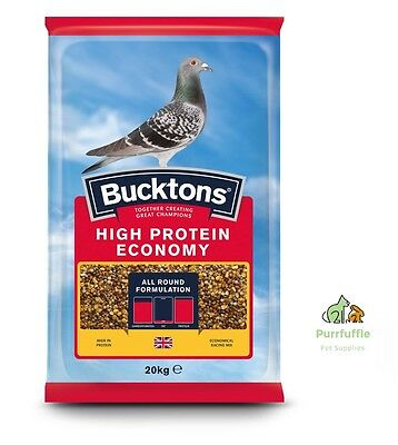 20KG BUCKTONS HIGH PROTEIN ECONOMY PIGEON FOOD FEED Maple Blue Peas Tic Beans